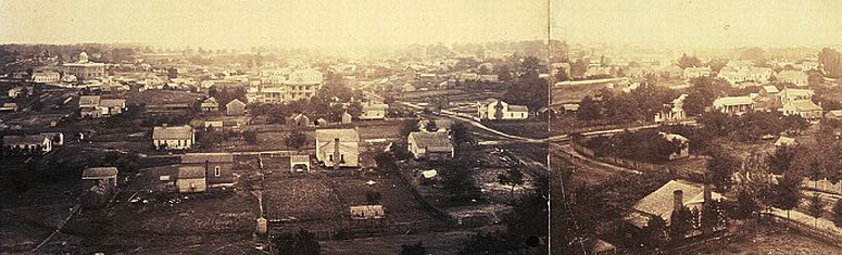 Atlanta as seen from the cupola of the Female Seminary in October 1864, before being burned... click to see Atlanta photos at the Library of Congress