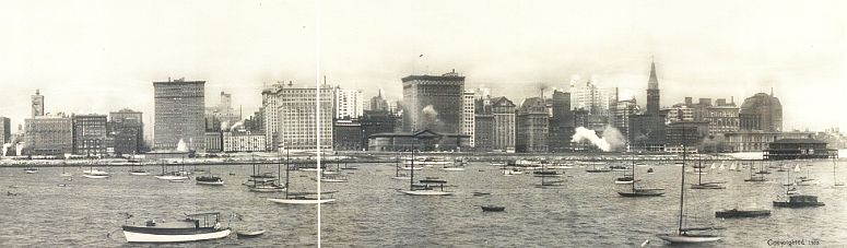 Chicago's Lake Michigan waterfront in 1913... click to see Chicago photos at the Library of Congress