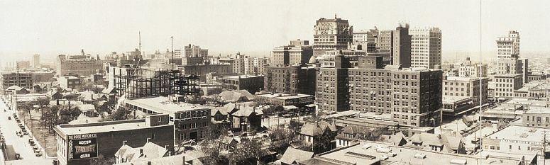 Dallas as seen from the roof of the Butler Brothers building in 1920... click to see Dallas photos at the Library of Congress
