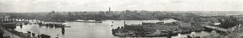 Minneapolis skyline in 1912... click to see Minneapolis photos at the Library of Congress