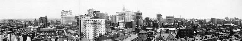 Philadelphia skyline in 1913... click to see Philadelphia photos at the Library of Congress