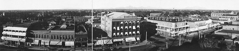Phoenix skyline in about 1908... click to see Phoenix photos at the Library of Congress