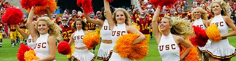 2005 USC cheerleaders-- click to see entire photo at Sports Illustrated cheerleaders photo gallery