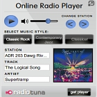 click to load free streaming music player in popup window