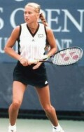 15-year-old Anna in 1996 at her first adult-draw US Open, where she was seeded 10th in the qualifying rounds, and reached the 4th round of the main draw.