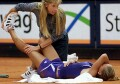 Anna tore a ligament in her left ankle vs. Gala Leon Garcia on Wednesday, May 10, but finished the match.