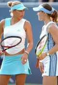 Anna and Martina vs Chanda Rubin and Natasha Zvereva on Tuesday, Sept. 3, 2002