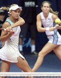 Anna and Meghann Shaughnessy vs Dokic and Petrova on Wednesday, Oct. 2, 2002
