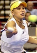 Anna defeating Carly Gullickson in Portland, Oregon on Nov 22, 2003