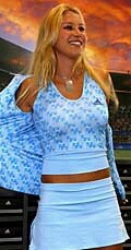 Anna unveiled her new adidas digs for this season at an event on January 4, 2003.
