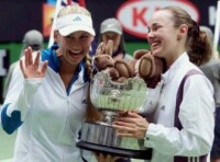 Anna Kournikova and Martina Hingis- click to see larger