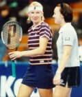 Jana Novotna and Martina Hingis won many doubles titles in 1998, but lost in the semifinals here at the Advanta.