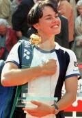 Martina with her 'Hamburg Open' trophy
