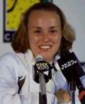 Martina at a tournament press conference