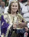 Martina Hingis recieves the winner's trophy