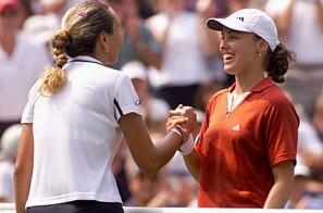 Martina Hingis and Iva Majoli, click to go to USopen.org Hingis info page