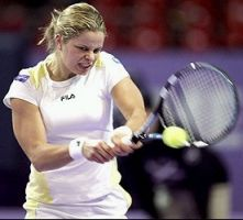 click for Clijsters French news photo search
