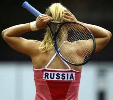 click for to see larger at Fed Cup photo gallery