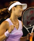 Martina defeating Sania Mirza on Feb 21