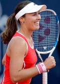 Martina after defeating Flavia Pennetta on May 9