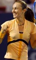 Martina after defeating Svetlana Kuznetsova