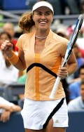Martina after defeating Shuai Peng on Wednesday, Aug 30