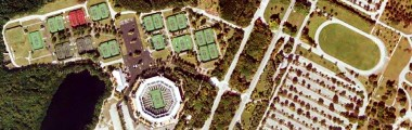 Crandon Park Tennis Center on Key Biscayne- click for interactive satellite photo