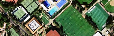 Stanford University tennis courts, Palo Alto, California